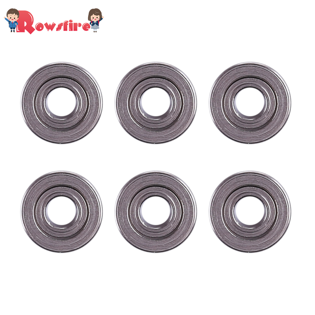 New Hot 6Pcs/Lot 7mm Bearing For JM Gen.9/M4A1/XWE M4 Water Gel Beads Blaster Modification - Silver Black