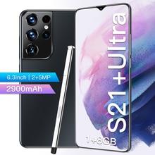 Mais novo 6.3 Polegada s21 ultra smartphone hd tela 1gb ram 8gb rom 2900mah bateria desbloqueado celular celulares barato china telefones