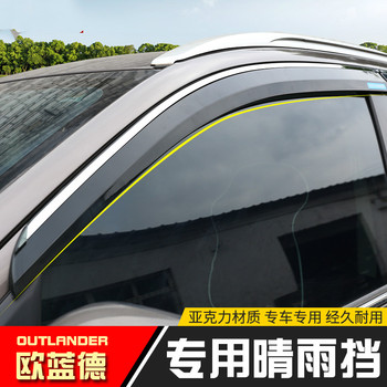 Voor Mitsubishi Outlander 2013-2019 Hoge Kwaliteit Abs Autoruit Regenkap Schuilplaatsen Cover Abs Zon Venster Vizier Auto styling