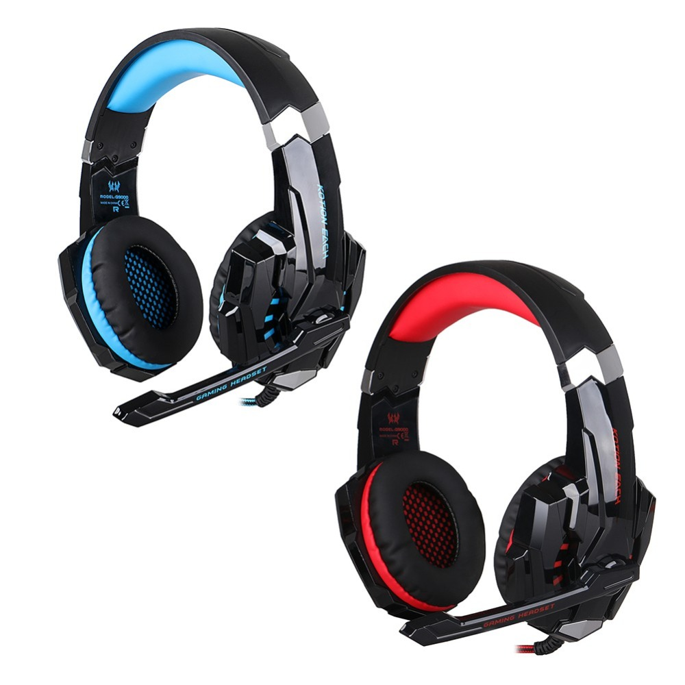 Gaming Headset Wired LED Light Microphone Stereo Earphone for PS4 Tablet Laptop Mobile Phone
