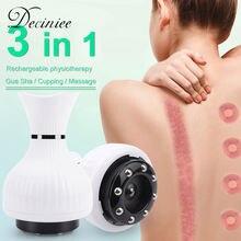 Электрический массажер для тела в виде банок массаж скребком