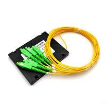 SC/APC SM 커넥터가있는 FTTH 1*4 PLC 광섬유 스플리터