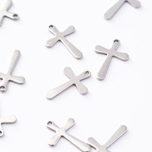 Catholic Christian religion stainless steel cross series necklace bracelet small pendant accessories(China)