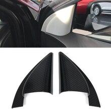 Автомобильные аксессуары передняя дверь столб треугольник Накладка для hyundai Encino Kauai Kona углеродное волокно узор