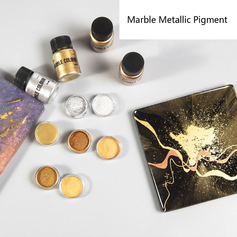 4 Color Mirror Metal Texture Pearl Powder Epoxy Resin Colorant Glitter Marble Metallic Pigment Resin Dye Jewelry Making 15g/box 5