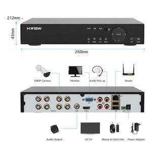 Image 4 - H.View 8CH CCTV System 1080P 8CH CCTV DVR Surveillance System 4PCS 1080P 2.0MP IR Outdoor Security Camera 1200 TVL CCTV Camera