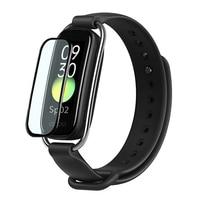 3d macio fibra de vidro película protetora capa para oppo banda estilo pulseira relógio inteligente caso protetor tela cheia