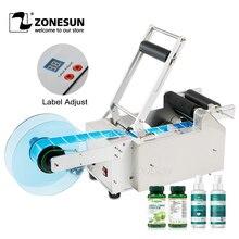 ZONESUN LT 50 شبه التلقائي ملصقا زجاجة مستديرة التسمية التسمية قضيب مخصص آلة وسم موزع بطاقات