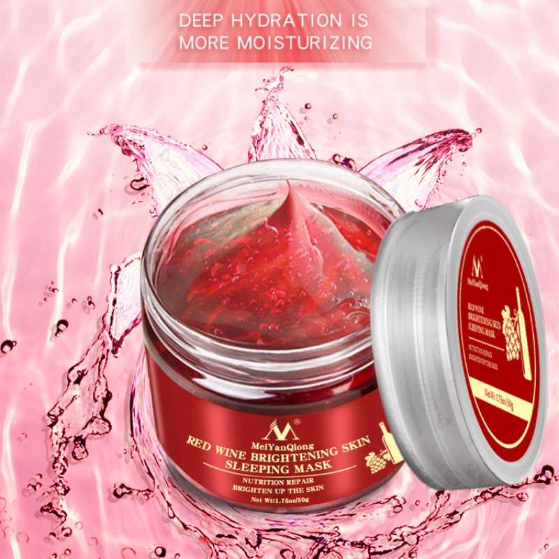 Red Wine Sleeping Facial Mask Whitening Cream