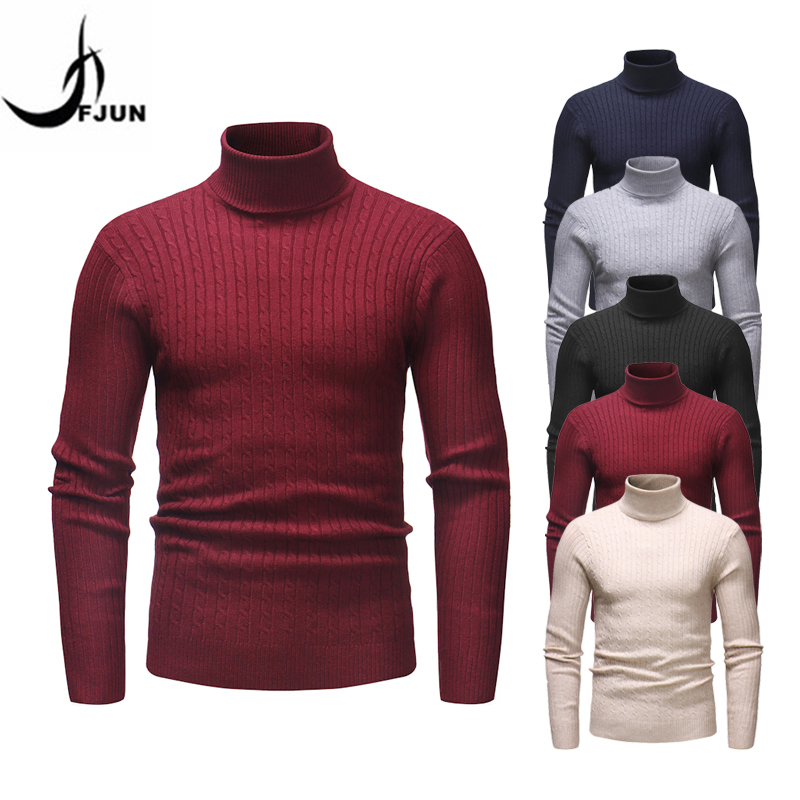 Sweater Men Turtleneck Pullover Men Jumper High Quality Warm Knitted Mens Sweaters Cotton Casual Slim Men's Sweater Plus Size4XL