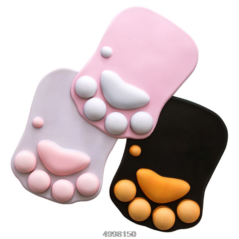 Cute Cat Paw Mouse Pad Nonslip Silicone Mice Mat PC Computer Wrist Rest Support