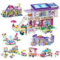 Princesa castelo modelo educacional compatível legoing blocos de construção tijolo menina diy montado cenas jogar casa crianças brinquedo o45
