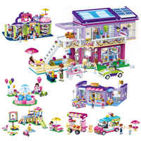 Principessa Castello Modello Educativo Compatibile Legoing Blocchi di Costruzione di Mattoni Della Ragazza FAI DA TE Assemblato Scene Bambini della Casa del Gioco del Giocattolo O45