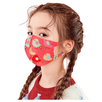 1pcs Children Boys Girls Cotton Washable Adjustable Cartoon Lovely Printed Designer Face Maks For Kids Детские Маски