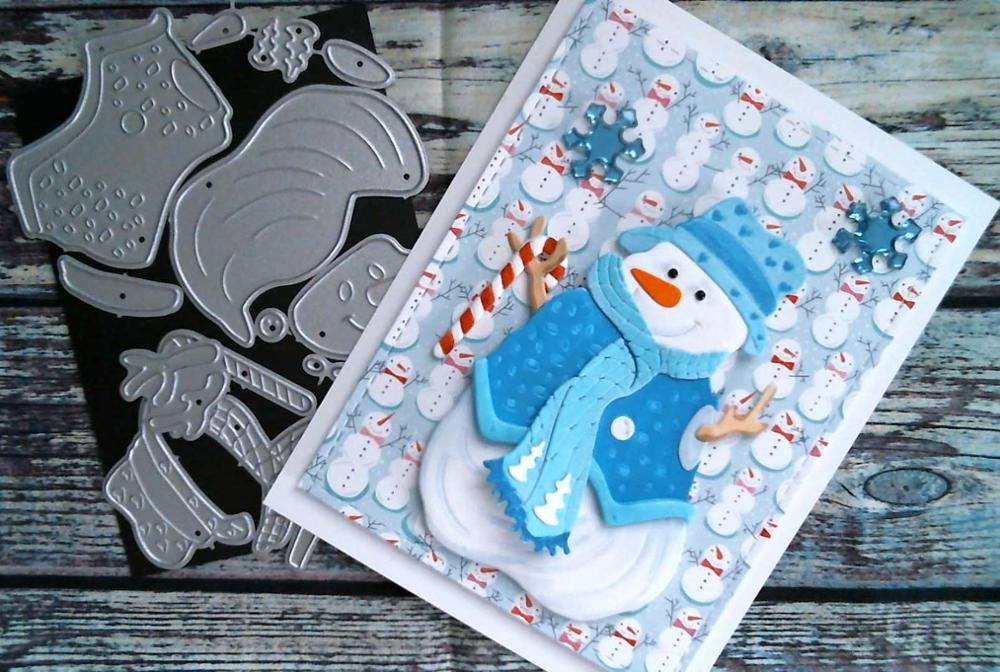 Image 3 - Snowman Christmas Cutting Dies 2019 Vintage Scrapbook Album-in Cutting Dies from Home & Garden