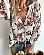 Рубашка с длинными рукавами и принтом на весну осень 2020