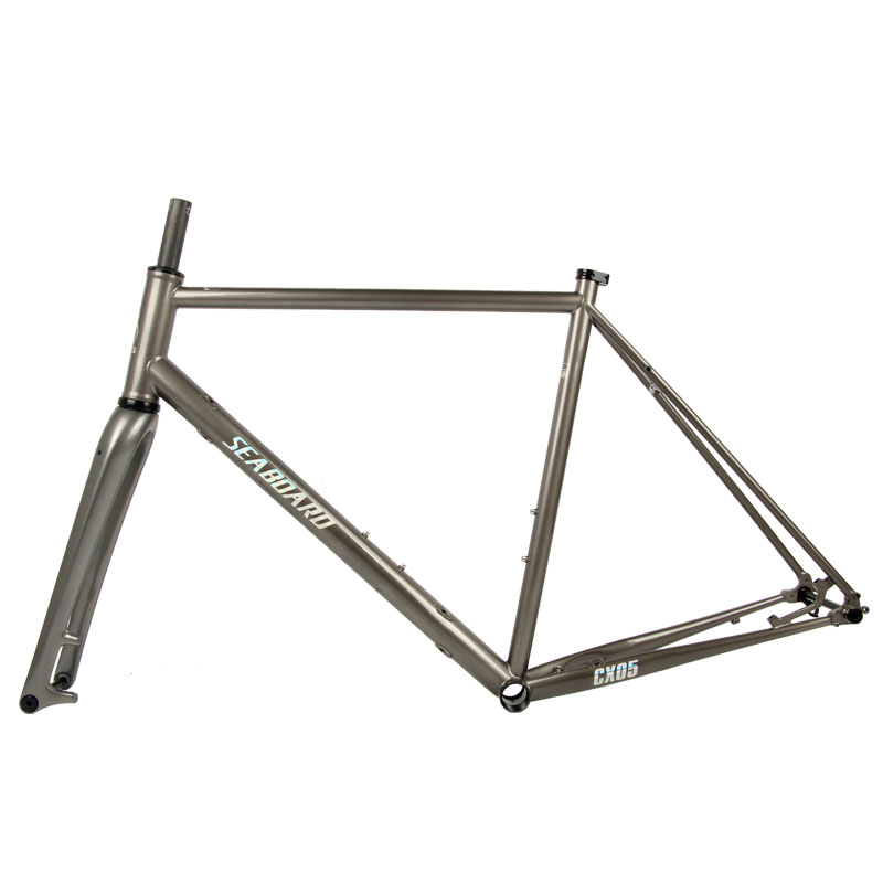 CX05 Chromium-molybdenum Steel Road Bicycle Frame Carbon Fork Inner Cable Thru Axle Cr-mo Steel Bike Frame 43/47/50/53/56cm