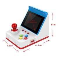 Newly A6 Retro Mini FC Game Arcade Red and White Machine Built in 360 Double Handle Retro Handheld A6 Retro Mini Game Arcade