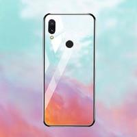 silicone case Tempered Glass Case For xiaomi redmi 7 6A 5 plus Cases Space Silicone Covers for xiaomi redmi note 5 6 7 pro back cover (3)