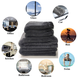 Image 5 - Thicken Extra Soft Car Wash Waxed crystal Microfiber Towel Car Cleaning Drying Cloth Car Care Cloth Detailing Car WashTowel
