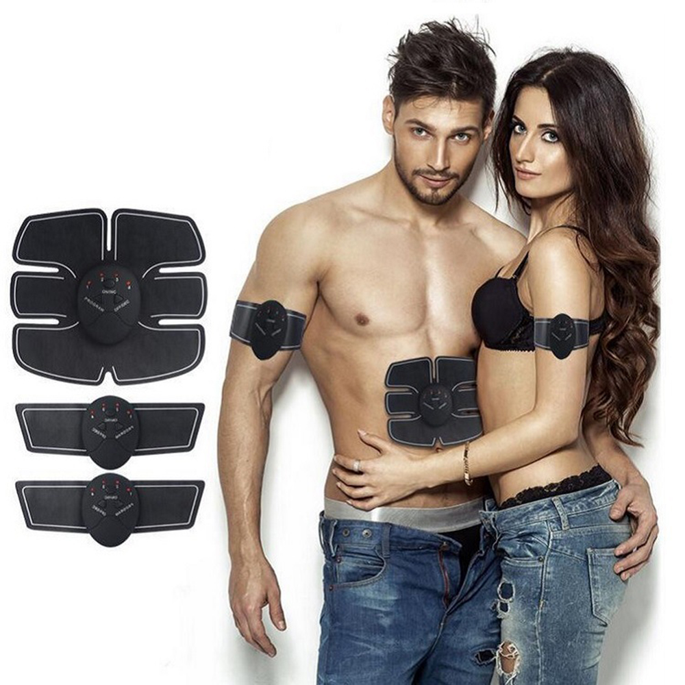 Muscle Electro Stimulator EMS ABS Electrostimulator Abdominal Electric Massager Training Apparatus Fitness Machine Building Body image