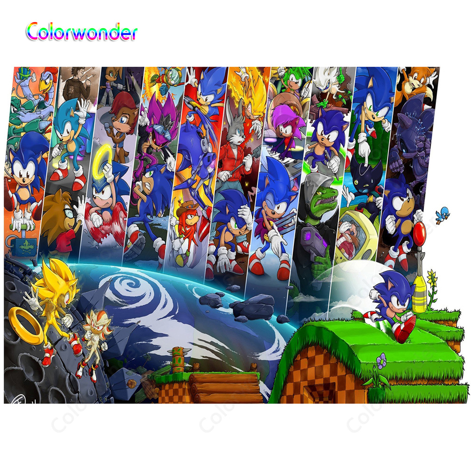 Japanese Anime Photography Background Blue Hedgehogs Sonic Cartoon Characters Game World Backdrops For Kids Birthday Baby Shower Background Aliexpress
