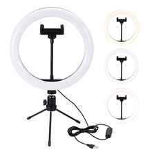 Fill-Light Ring-Lamp Makeup Dimmable Live-Studio Led Camera Phone Photo with Stand-Tripod