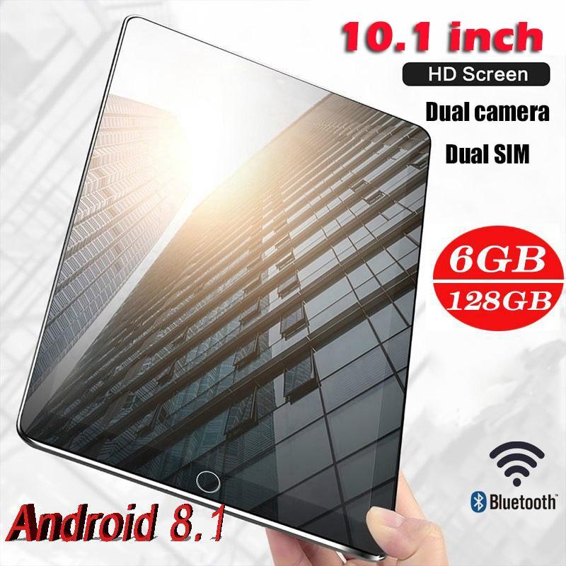 Tablets (Free Shipping) Game Tablets Pad 4G-LTE Android 8.0 Bluetooth PC 6 + 128GB Dual SIM Dengan GPS Ukuran: 10.1Inch