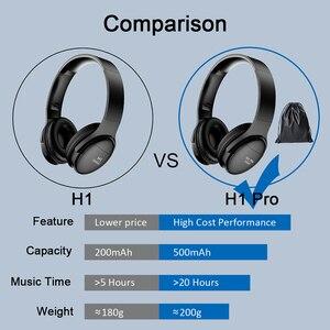 Image 5 - H1 Pro بلوتوث سماعات لاسلكيّ eسماعة مع مايكروفون حر اليدين HIFI ستيريو BT5.0 فوق سمّاعة أذن دعم TF بطاقة