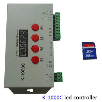 Pixels Program Controller Free shipping K-1000C (T-1000S Updated) controller WS2812B,WS2811,APA102,2813 LED 2048 DC5-24V