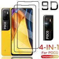 Per Xiaomi Poco M3 Pro 5G proteggi schermo in vetro M2 F3 F2 X3 GT Pro NFC F1 vetro temperato Pocof3 fotocamera Len Film Pocox3 X 3 F M