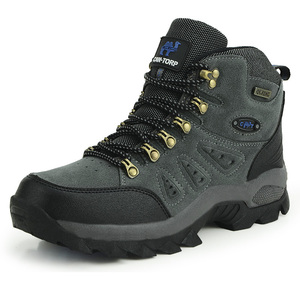 Image 1 - Outdoor Waterproof Hiking Boots Men Women Winter Shoes Walking Jogging Hiking Shoes Mountain Sport Boots Climbing Mens Sneakers