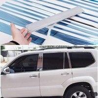 רכב חלון מסגרת לקצץ סטיילינג עבור טויוטה לנד קרוזר פראדו fj 120 2700 \ 4000 אוטומטי נירוסטה אביזרי 2003  2009|styling accessories|styling carstyling auto -