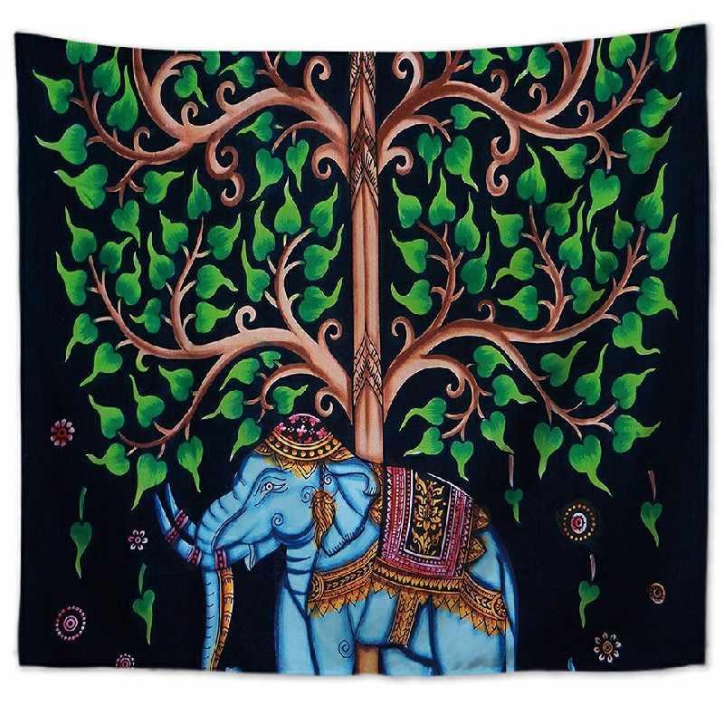 Картина Дерево настенный гобелен задний Фон тканевый ковер настенный домашний декор пляжный коврик принадлежности для колдовства 75*90 см GT-0005