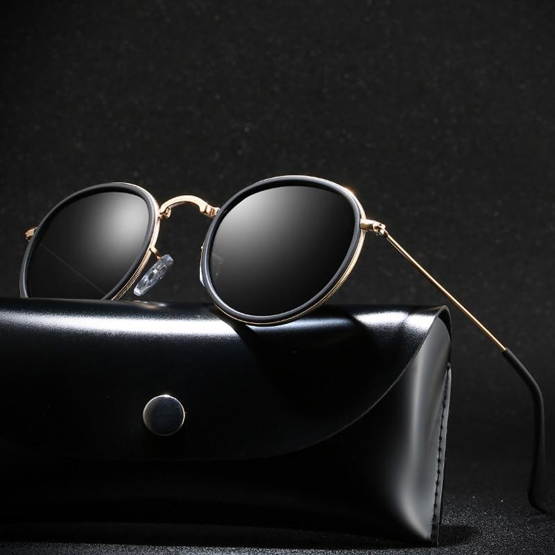 Classic Polarized Sunglasses Round Glasses Brand Design Women Men Metal Driving Sun Glasses UV400 Shades Eyewear Oculos De Sol