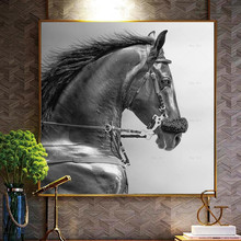 Animal Canvas Painting Posters and Prints Horse Paintings Frameless Wall art Picture for Living Room цена 2017
