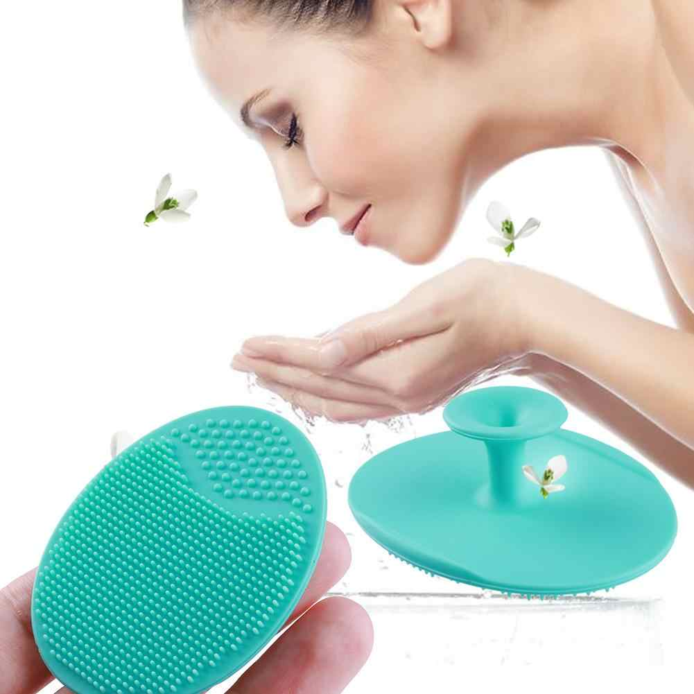 1 PC Silicone Rửa Miếng Lót Đầu Đen Mặt Rửa Mặt Tẩy Tế Bào Chết Bàn Chải Chăm Sóc Da Mặt Làm Sạch Bàn Chải Làm Đẹp Dụng Cụ Trang Điểm Ngẫu Nhiên C