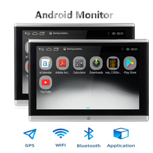 Android OS Auto Hoofdsteun Monitor Video Speler USB/SD/FM TFT LCD Digitale Scherm Touch Knop Game Remote controle Auto MP5 Speler