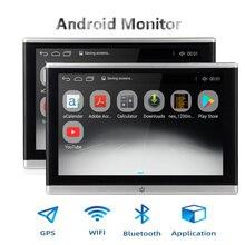 Monitor para reposacabezas de coche, reproductor de vídeo con sistema operativo Android, USB / SD /FM, TFT, LCD, pantalla Digital, botón táctil, mando a distancia, reproductor MP5 para coche