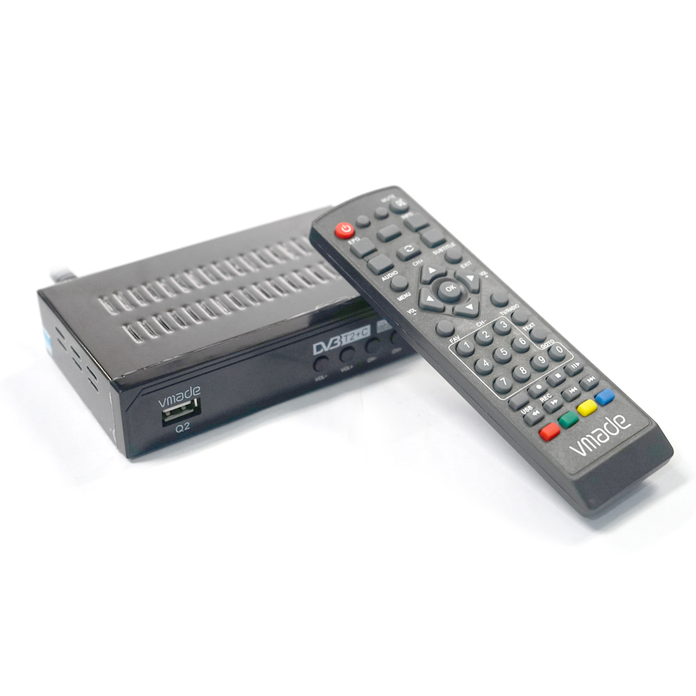 Vmade-receptor de televisión terrestre Digital, DVB-C rusa, sintonizador de TV DVB T2, MPEG-4 decodificador HD H.264, soporte de caja de TV, Youtube