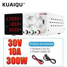 Adjustable DC Power Supply 30V 10A LED Digital Lab Bench Power Source Stabilized Power Supply Voltage Regulator Switch 110V 220V
