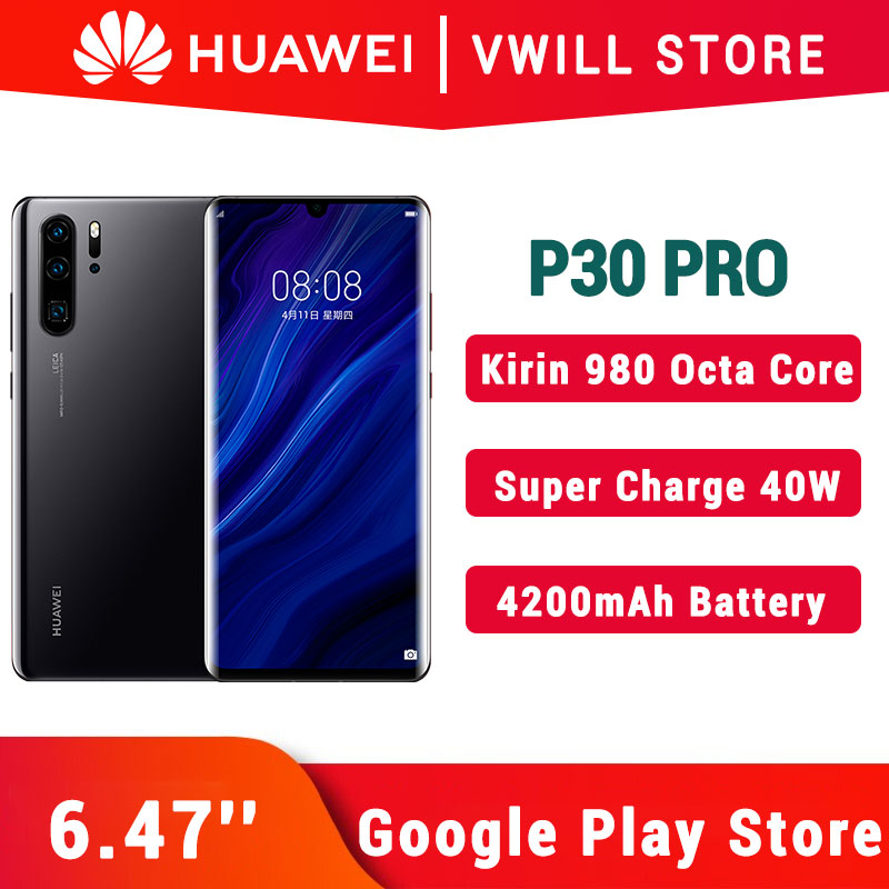 Original Huawei P30 Pro Mobile Phone 6.47'' Kirin 980 Octa Core Android 9.1 in screen Fingerprint 40W SuperCharge GPU Turbo 3.0|Cellphones| - AliExpress