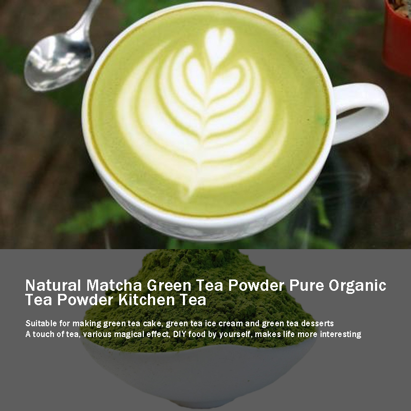 499g Natural Matcha  Tea Powder Pure Organic Portable Mini Matcha Green Tea Powder Professional Kitchenpaper Bags Tea Bag
