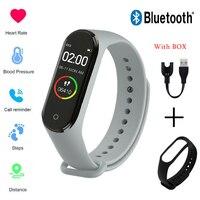 Reloj inteligente deportivo con control del ritmo cardíaco y de la presión sanguínea para hombre y mujer, reloj Digital con mensaje de llamada, recordatorio de vibración