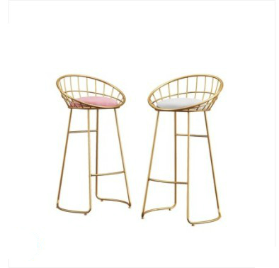 M8 Bar Chair, Iron Chair, Golden Footstool, Nordic Simple Bar Chair, Leisure Chair, Modern Dining Chair, Wire Chair