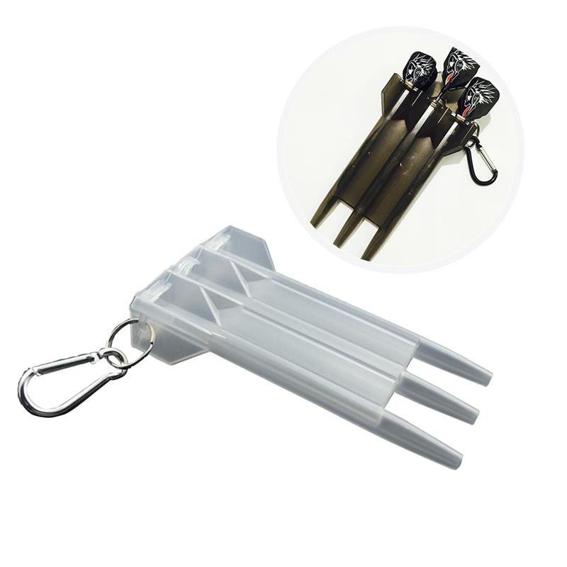 Portable Dart Box Transparent Nylon Plastic Dart Holder Dart Organizer Case With Lock Dart Storage Box