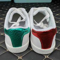 Hohe Qualität Männer Bee Stickerei Kleine Weiße Schuhe Frauen Neue Licht Klassische Sport Laufschuhe Männlichen Turnschuhe Zapatos De Hombre