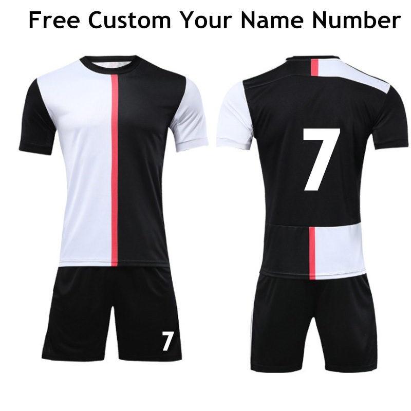2019-2020 New Club Football Jerseys Football Sets For Men Boys Soccer Jersey Uniform Adult Soccer Kits Custom Football Jerseys