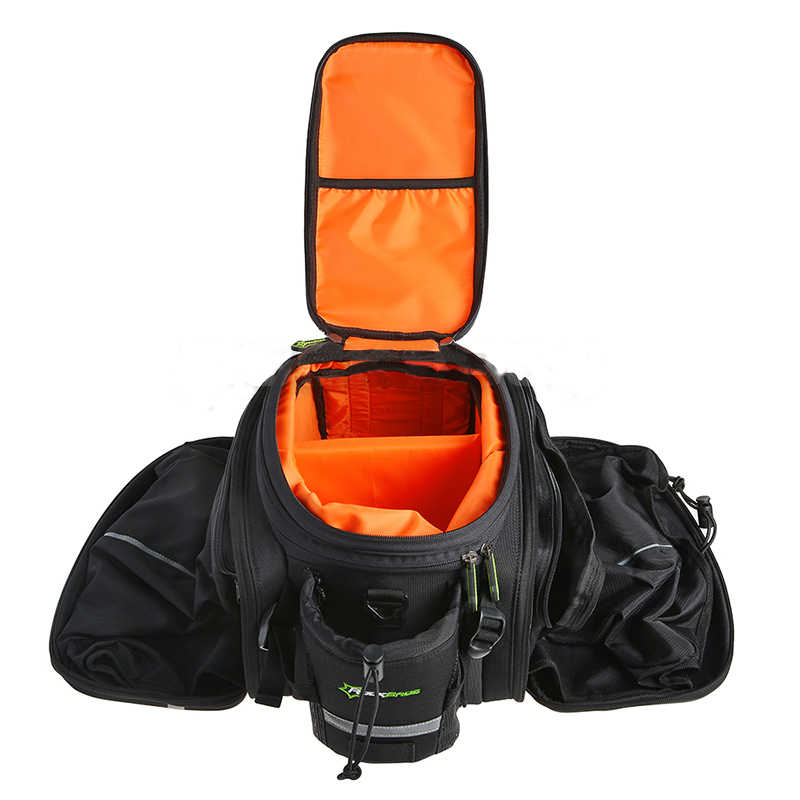 ROCKBROS-bolsos para bicicleta de montaña, maletas de gran capacidad, resistentes al agua, para equipaje de ciclismo