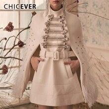 CHICEVER женские платья в стиле пэчворк с перьями и бриллиантами, водолазка, накидка, рукав, высокая талия, с поясом, платье для женщин, мода, новинка